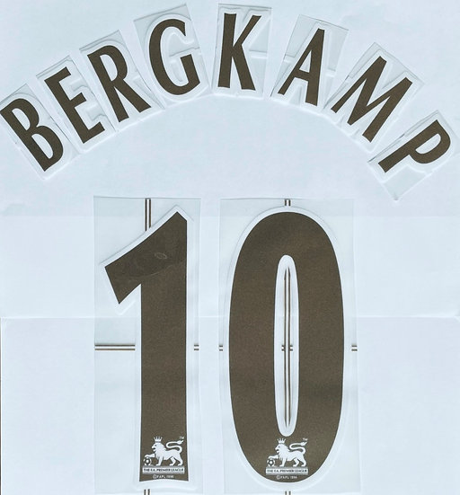 BERGKAMP 10 GOLD NAME SET EPL SEASON 2004-07