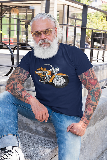 HARLEY MOTORCYCLE MEN'S TEE SHIRT