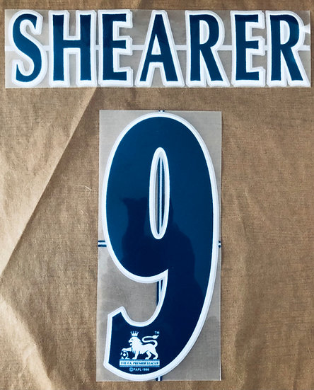 NEWCASTLE SHEARER 9 NAVY NAME SET EPL SEASON 2004-06