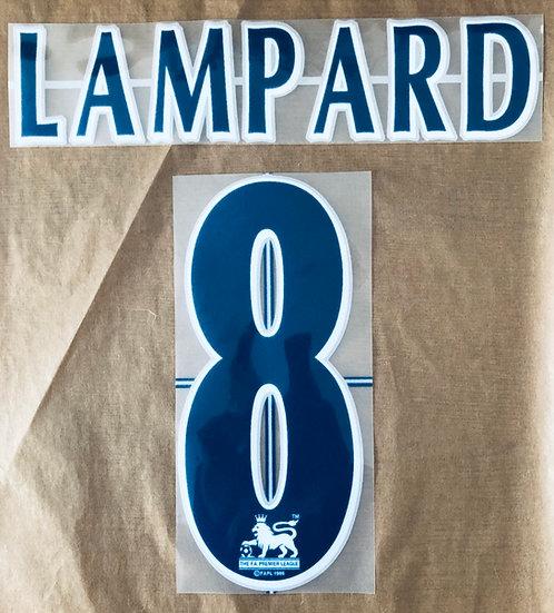 CHELSEA LAMPARD 8 NAVY NAME SET EPL SEASON 2004-07