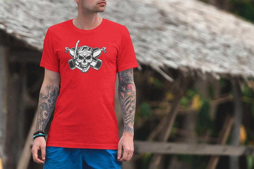 SCUBA SKULL DIVING FUN TEE SHIRT