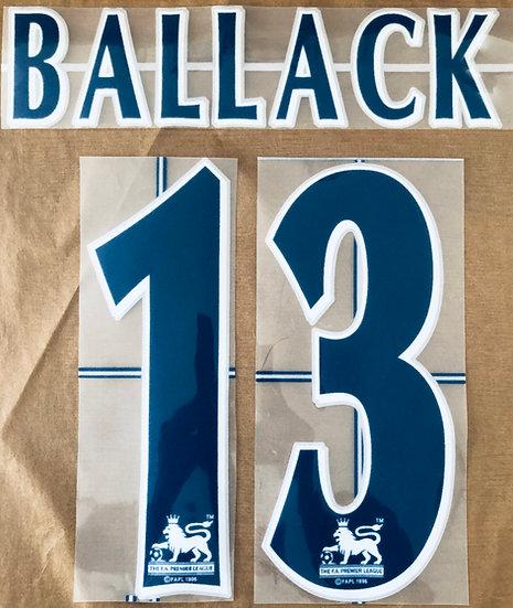 BALLACK 13 NAVY NAME SET EPL SEASON 2006-08 CHELSEA