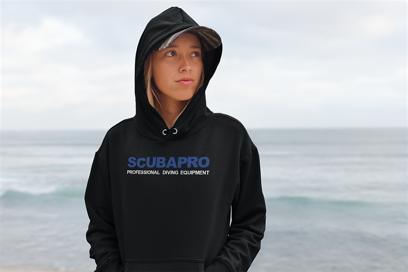 SCUBAPRO PROFESSIONAL DIVING EQUIPMENT BLUE/WHITE HOODIES
