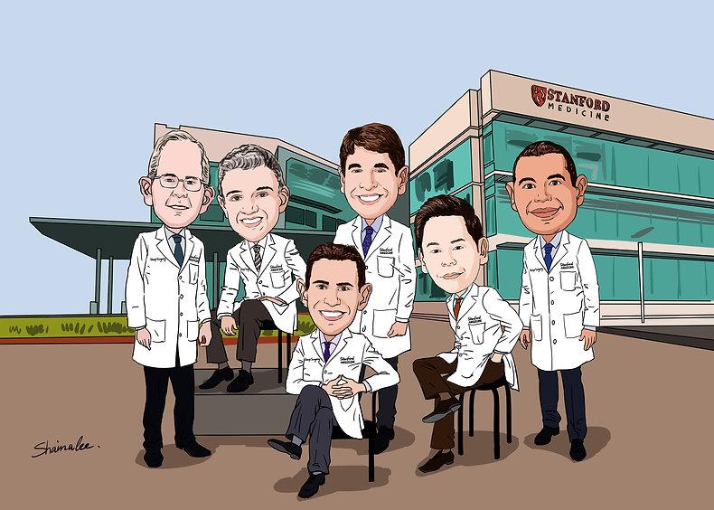 Stanford Sleep Surgery Cartoon of Doctors