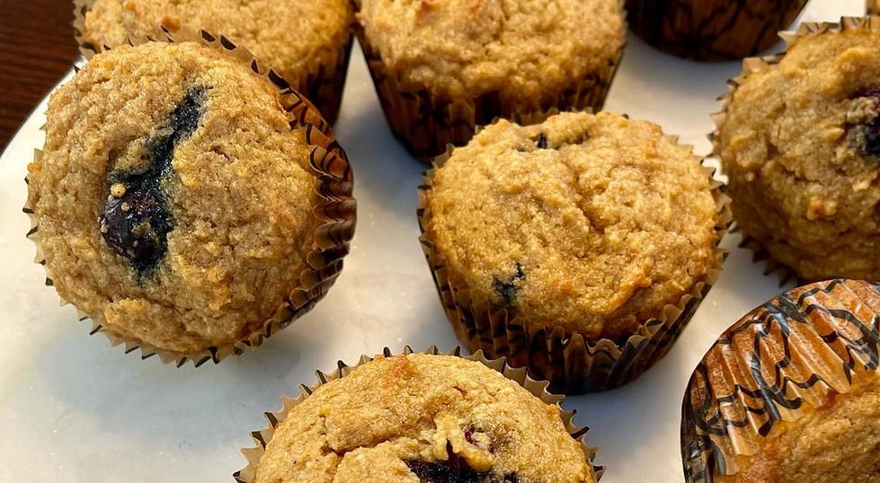 Paleo blueberry cardamom muffins