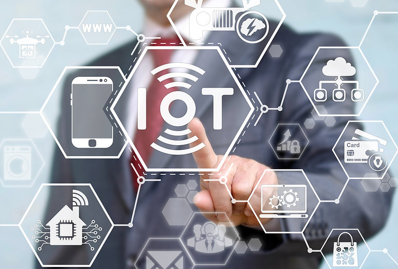 Internet of things (IoT) concept. Busine