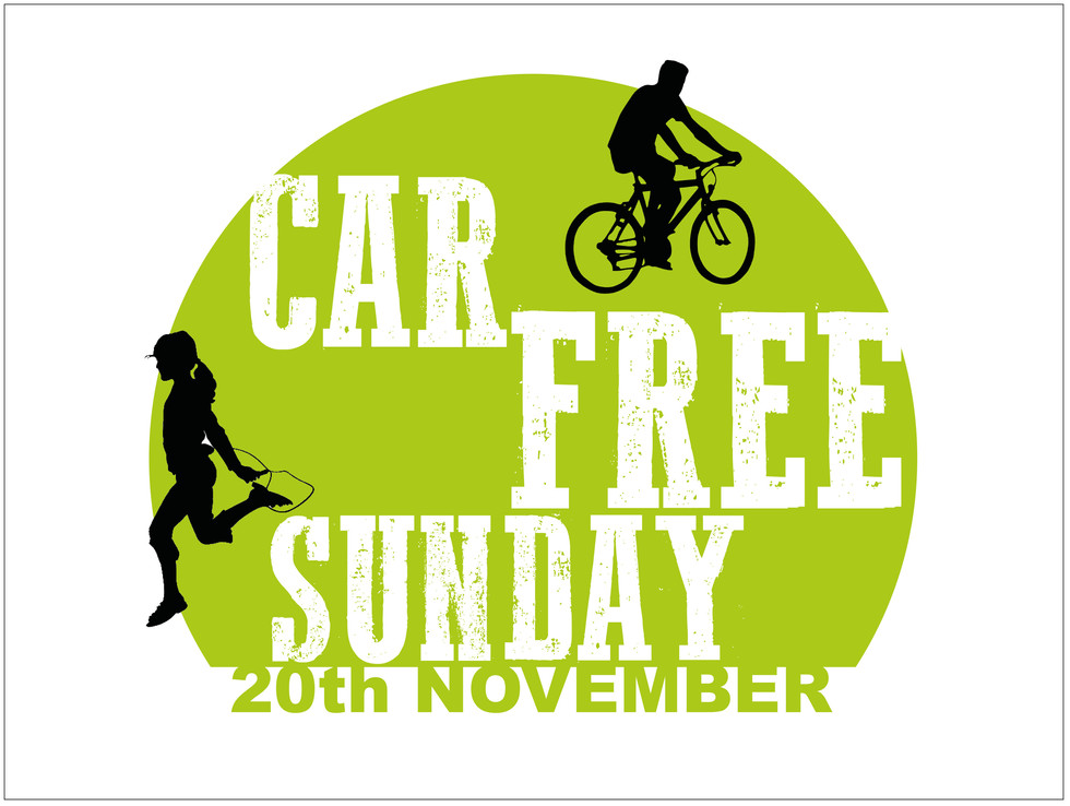 Car Free Sunday - stickers
