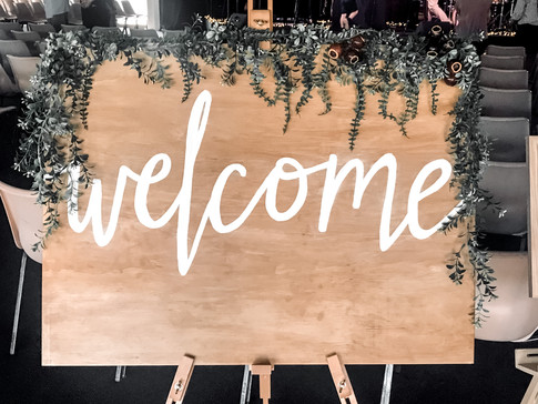Welcome board styling for Christmas 2018