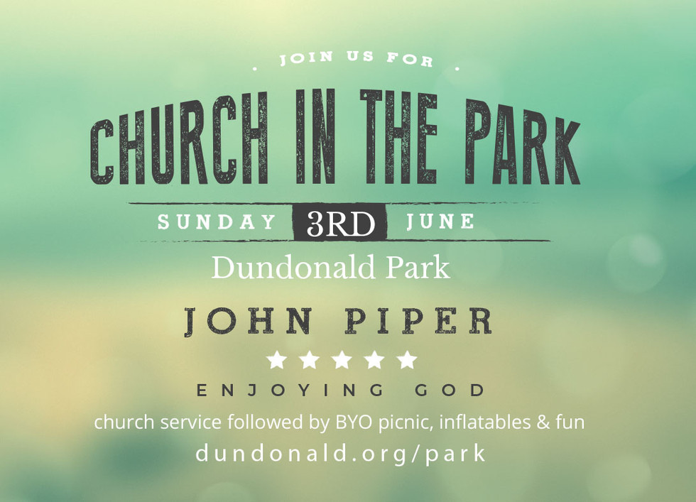 Church in the Park - Postcard