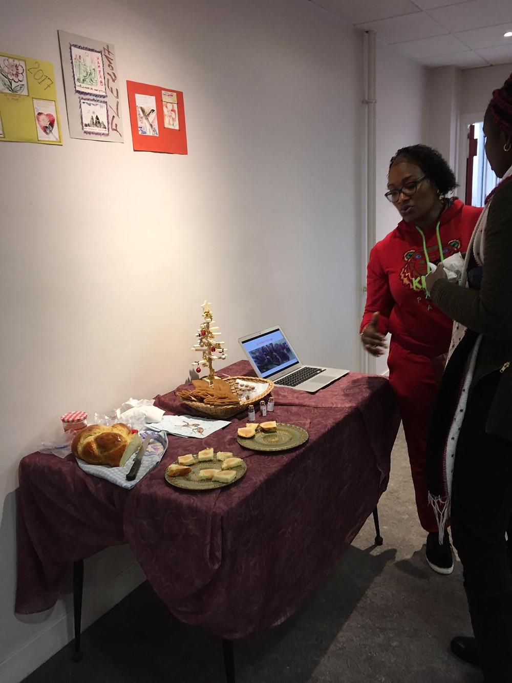 Lors de la journée du téléthon, une table a été mise à disposition pour le Safran de Sénart.