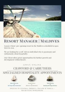 Resort Manager - Maldives