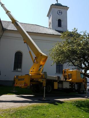 Arbeid med kirkekuppel