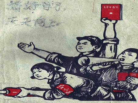 """Reunião de Mao Tsé-tung com os """"cinco grandes líderes"""" da Guarda Vermelha de Pequim"""