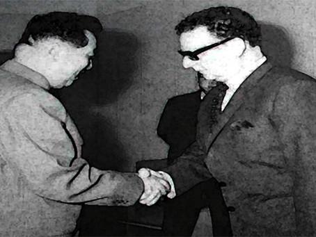 Fraternidade entre Kim Il Sung e Salvador Allende
