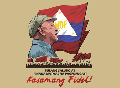 Em memória do camarada Fidel Agcaoili