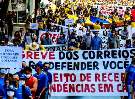 Seguem as ações dos trabalhadores grevistas dos Correios