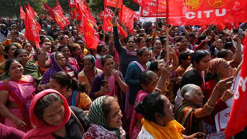 O movimento camponês na Índia