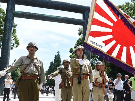 """""""Ação agônica do cadáver político: Abe e o militarismo japonês"""""""