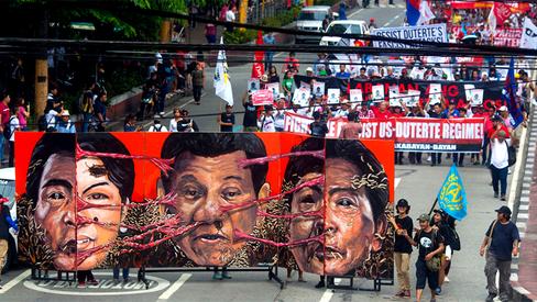 """Sison: """"Dissecando os regimes de Marcos e Duterte nas Filipinas"""""""
