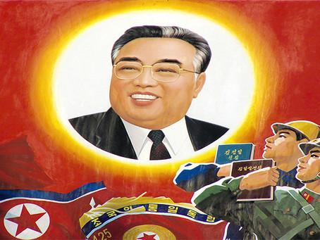 """""""Camarada Kim Il Sung, eterno sol do Juche"""""""