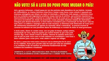 Sobre as eleições municipais e as lutas do povo brasileiro
