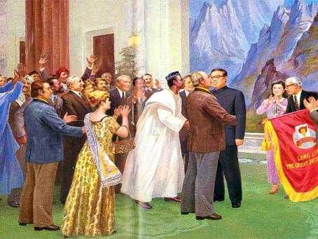"""""""Kim Il Sung, símbolo da luta pela libertação nacional das colônias"""""""