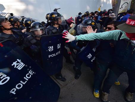 Movimentos publicam sobre violações dos direitos democráticos na Coreia do Sul