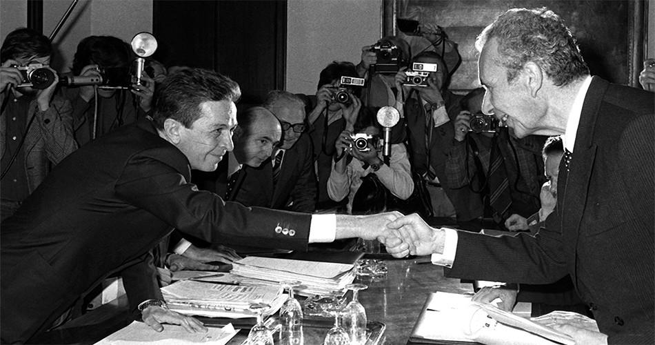 Luigi Berlnguer e Aldo Moro