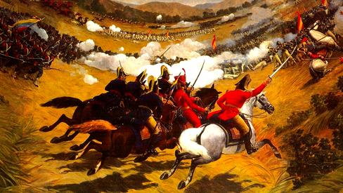"""""""Batalha de Carabobo contra o imperialismo"""""""