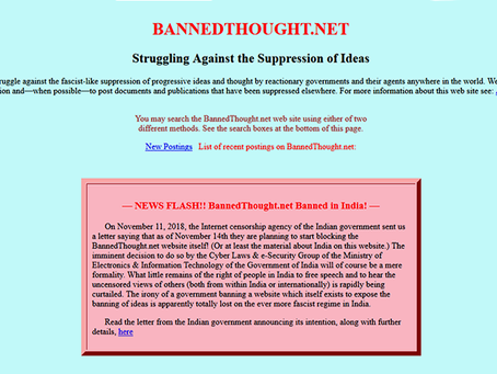 Governo indiano censura importante página de divulgação do marxismo