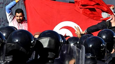 Protestos massivos na Tunísia contra o governo