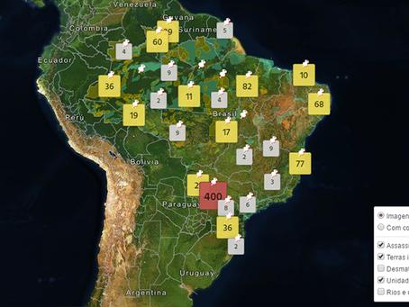 """Cartografia dos ataques contra Indígenas"""