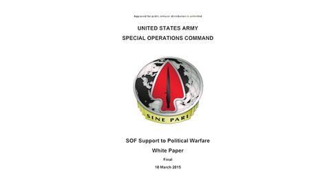"""""""A guerra política na concepção político-militar dos Estados Unidos"""""""