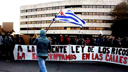 Avançam as lutas do proletariado e do povo do Uruguai contra a crise a repressão