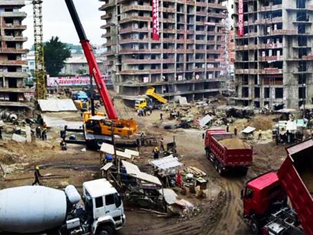 """""""A explosão na construção civil de Pyongyang"""""""
