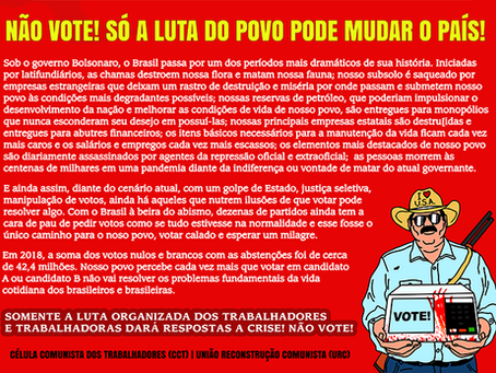 """URC: """"Sobre as eleições municipais e as lutas do povo brasileiro"""""""
