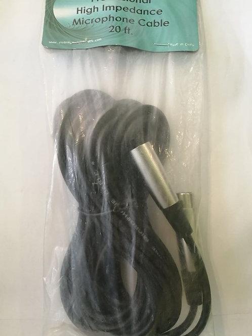 Cable para micrófono plug XLR a jack XLR 20 pies Alta Impedancia 49MIE20B <BK>