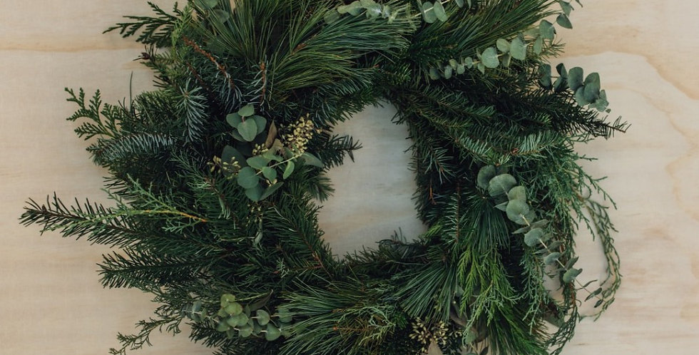 Winter Greens Wreath - Small