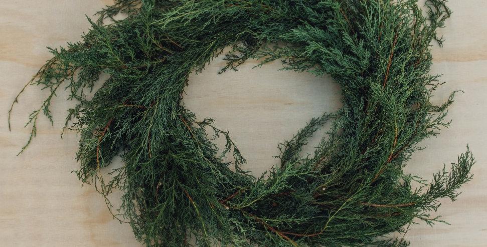 Carolina Sapphire Wreath - Large