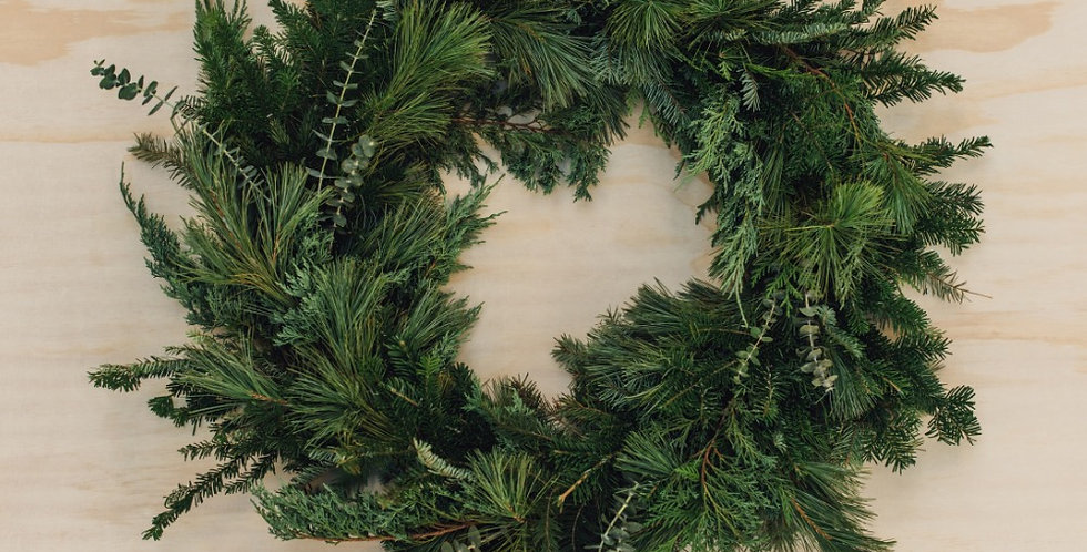 Winter Greens Wreath - Large