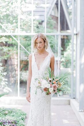 Tropical Greenhouse Bridal Editorial