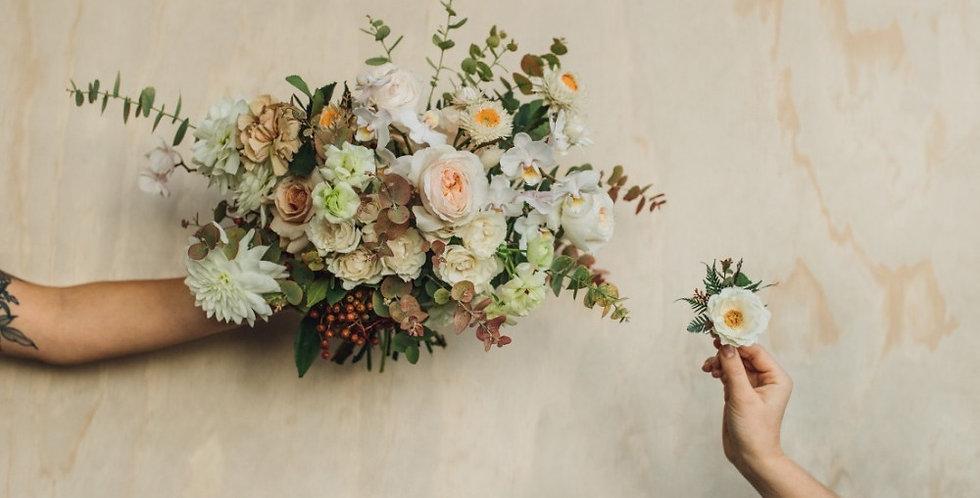 Bridal Bouquet + Boutonnière