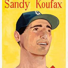 """58 Koufax oil on canvas 50"""" x 40"""", 2006 - $6500"""
