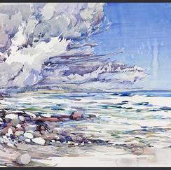"Wind Pile watercolor 24"" x 34.5"" , 2012 - $4900"