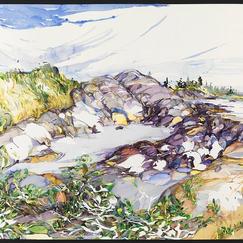 """Can't Decide, Nova Scotia watercolor 27"""" x 36"""" , 2012 - $5200"""