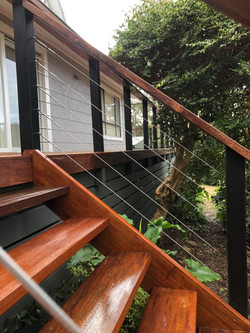 Steps with Wire Balustrade
