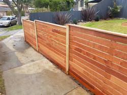 Low Merbau Fence