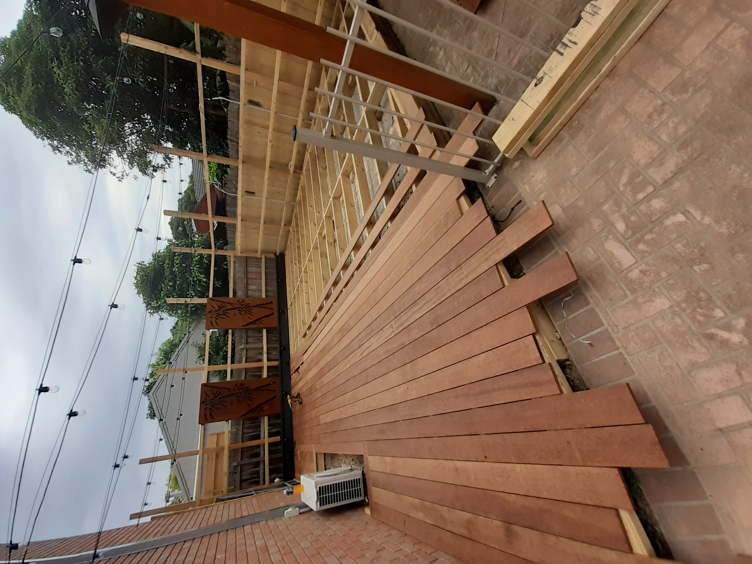 Nice deck subfloor started in clients summer lounge area