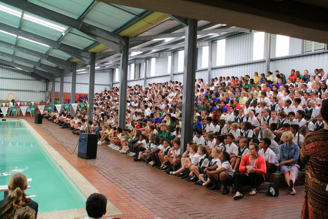 Assembly in the Swimming Pool Area