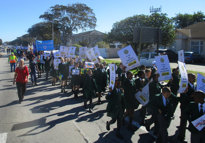 Grade 5 March for Child Protection